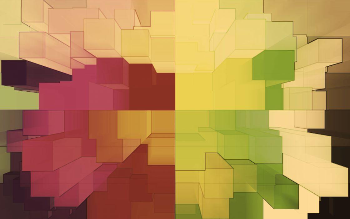 Colored city blocks wallpaper