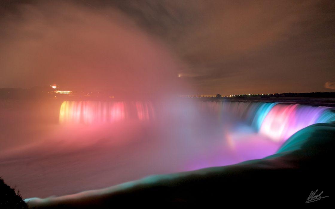 Niagara Falls at night wallpaper