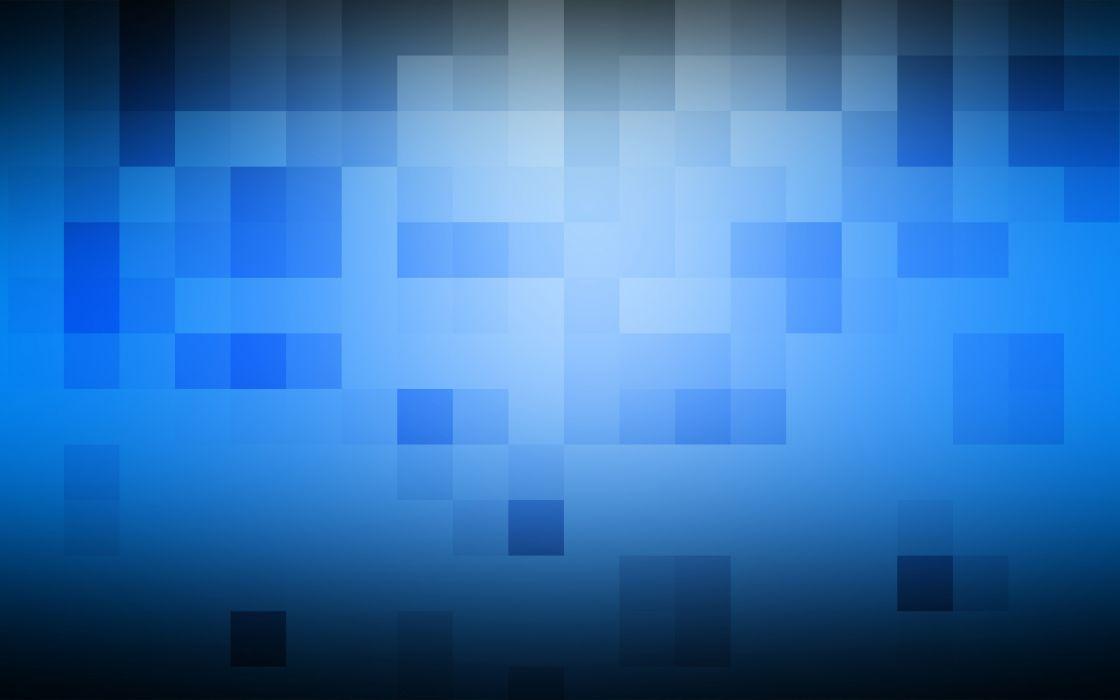 Blue cubes squares wallpaper
