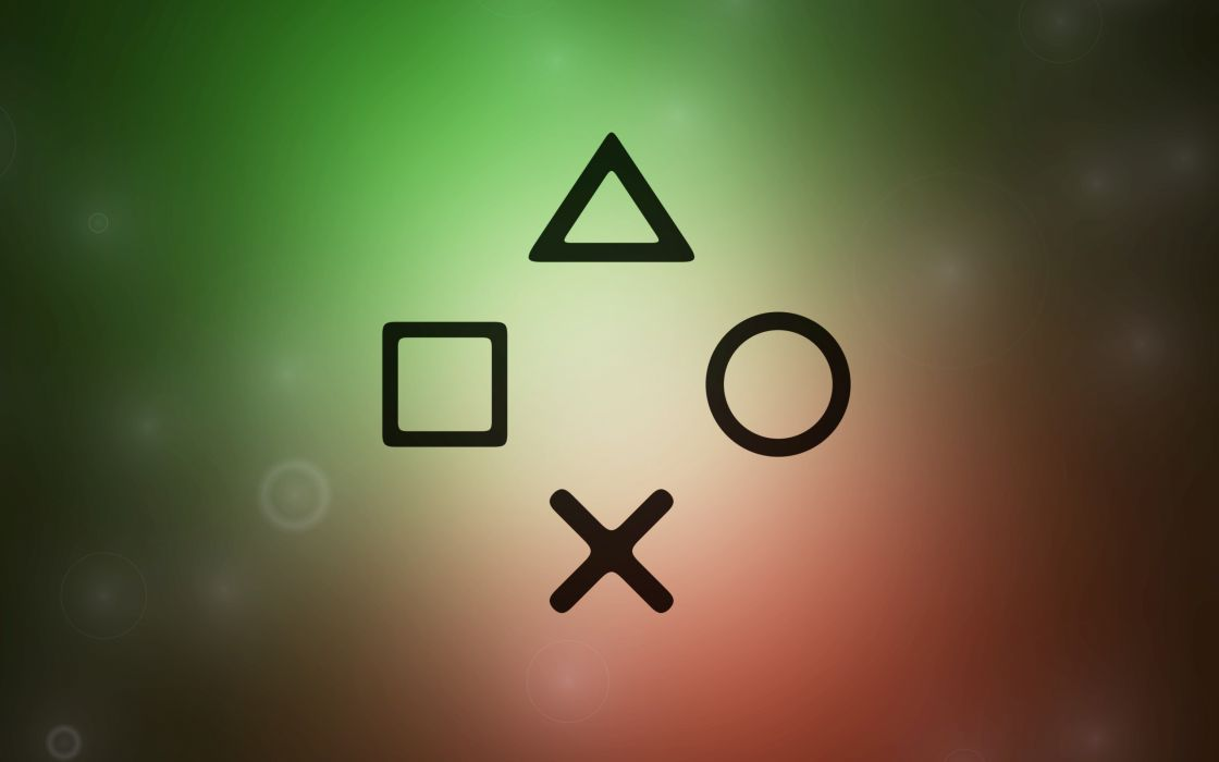 The Playstation's buttons wallpaper
