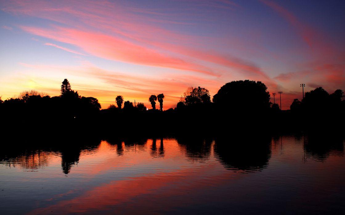 Twilight evening wallpaper