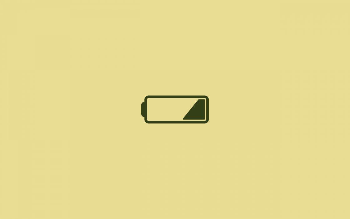 Low battery wallpaper