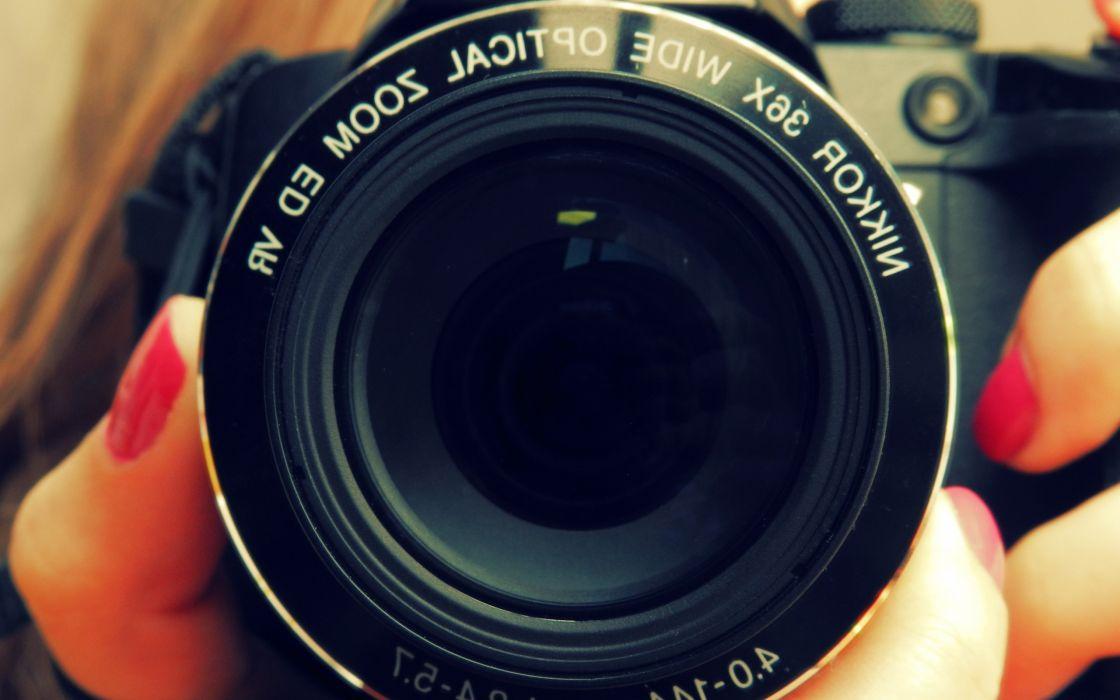 Camera lens wallpaper