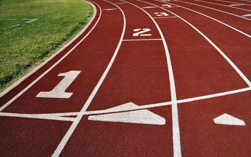 Olympics running track wallpaper