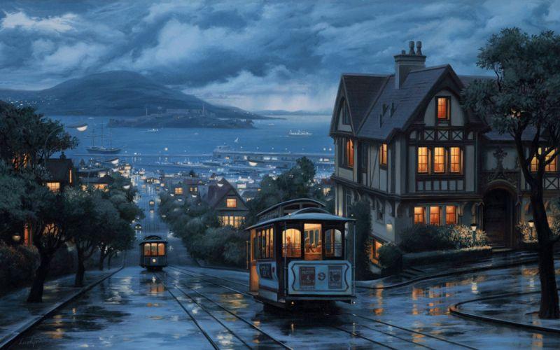 Streetcars of San Francisco wallpaper