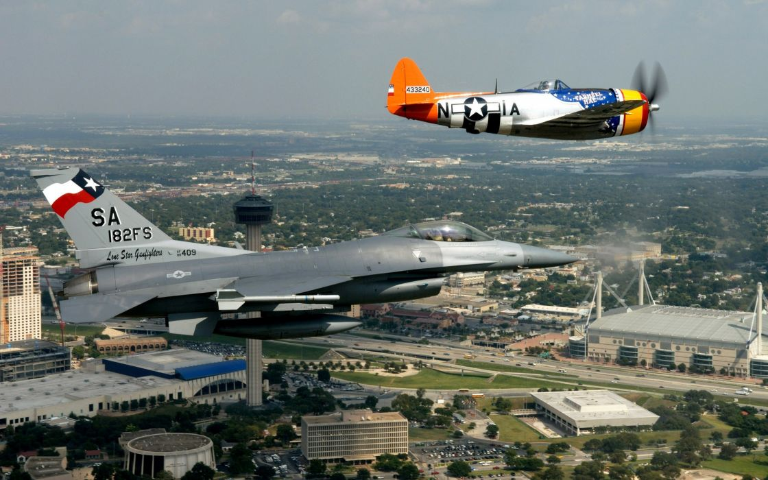 F16 and P47 Thunderbolt wallpaper