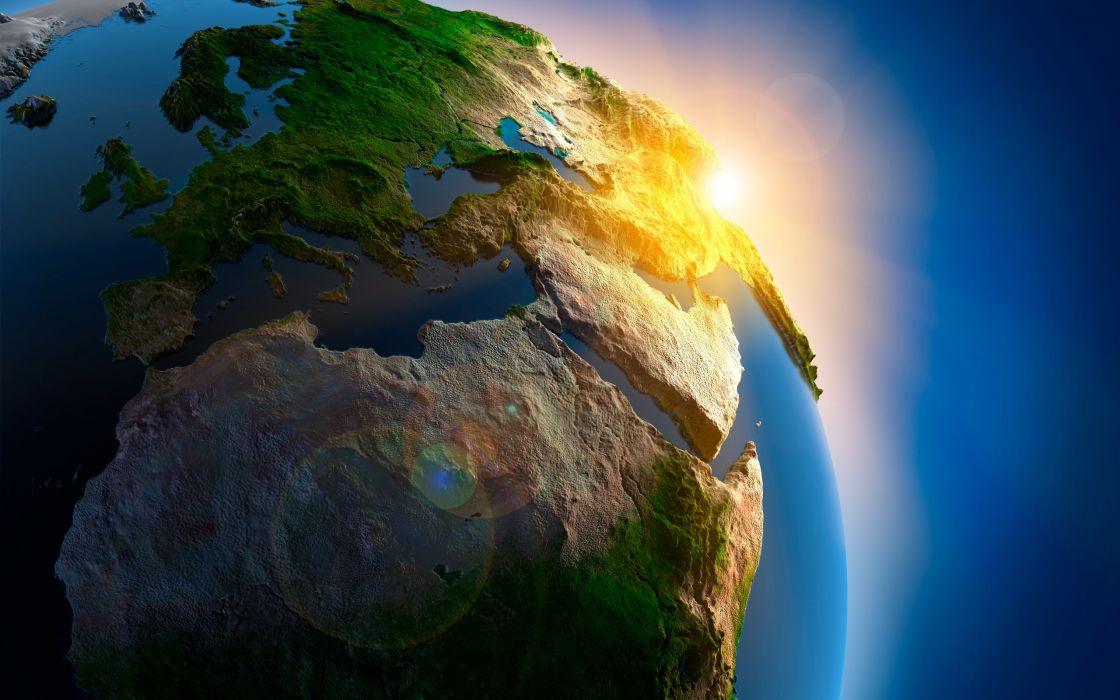 Superb 3D Earth wallpaper