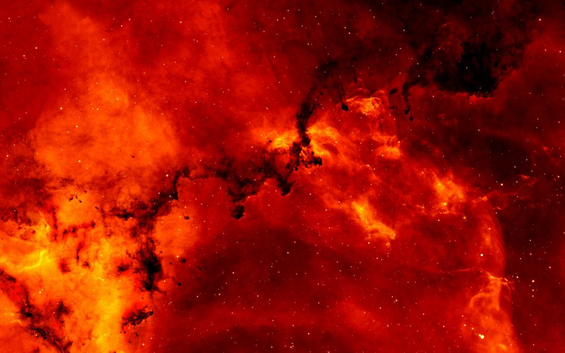 Amazing red Nebula wallpaper