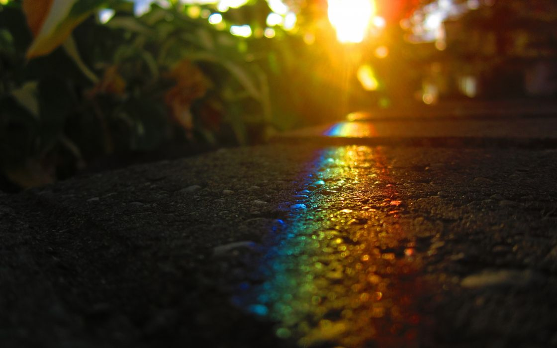 Rainbow in the ground wallpaper