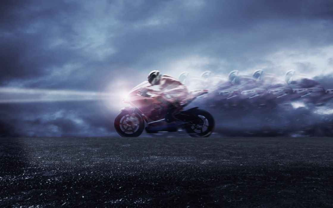 Motor bike speed wallpaper