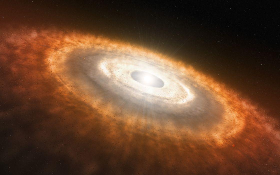 Protoplanetary disc wallpaper