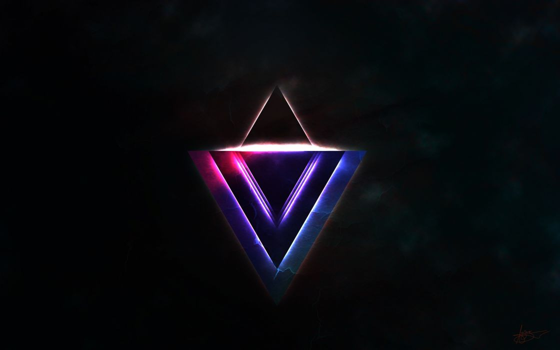 Glowing triangles wallpaper