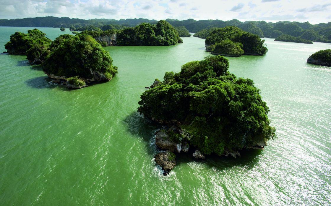 Green island wallpaper