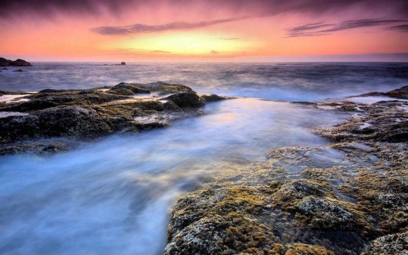 Seaside tranquillity wallpaper