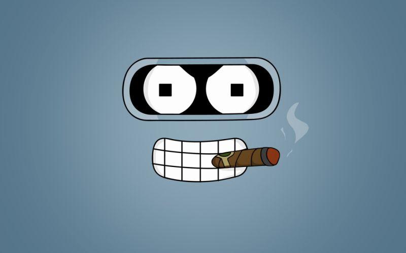Futurama - Bender smoking wallpaper