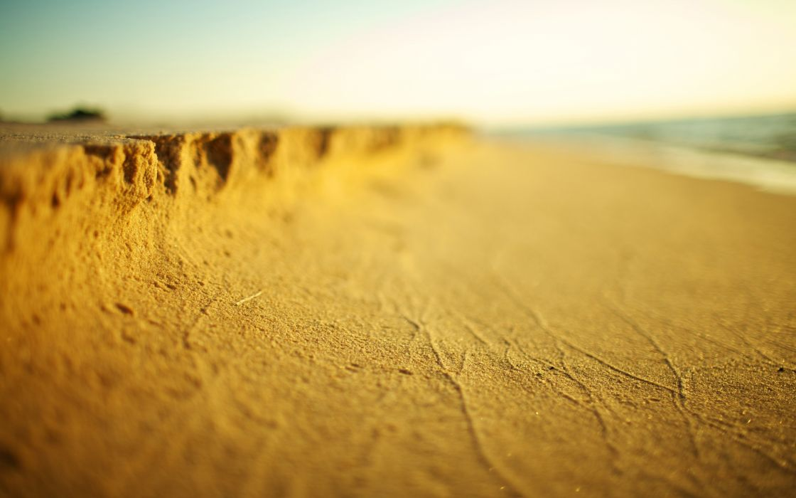 Macro of the sands of the beach wallpaper