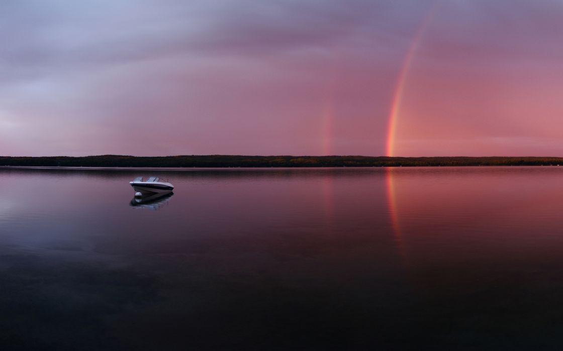 Sugar lake rainbow wallpaper