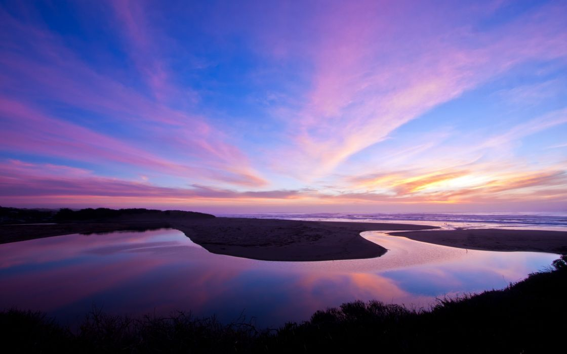 A nice winter Bodega Bay sunset wallpaper