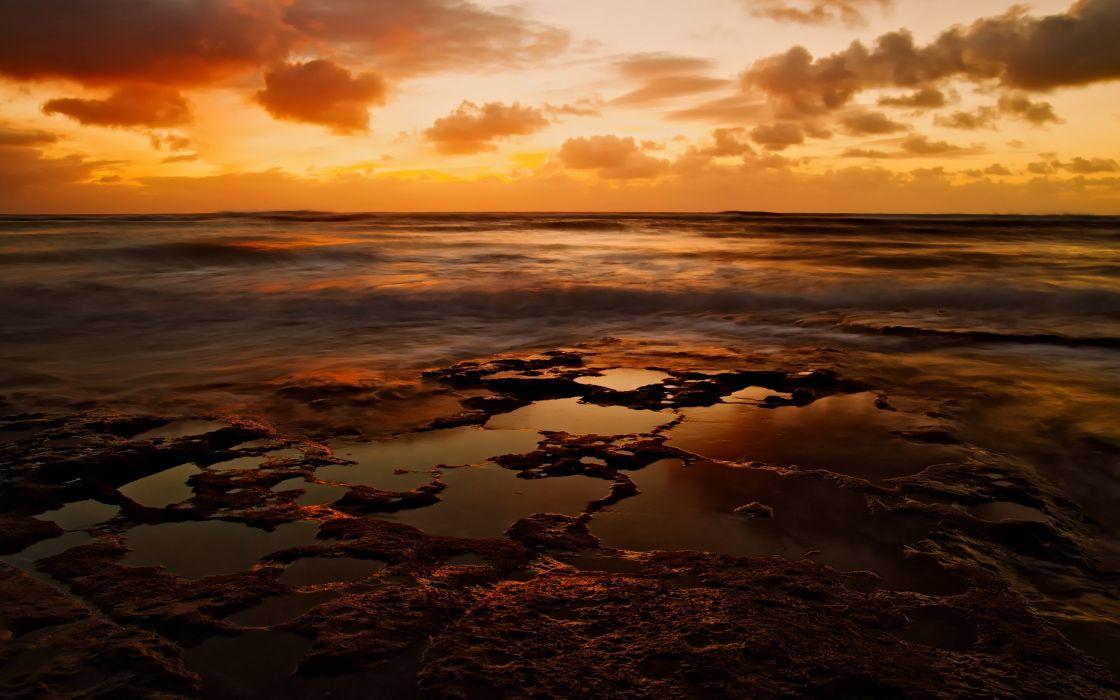 North shore sunset wallpaper