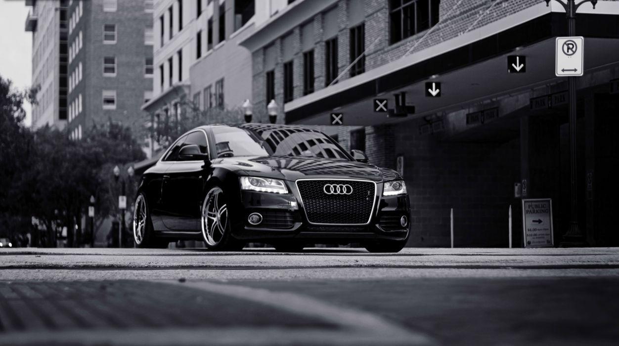 Black Audi wallpaper