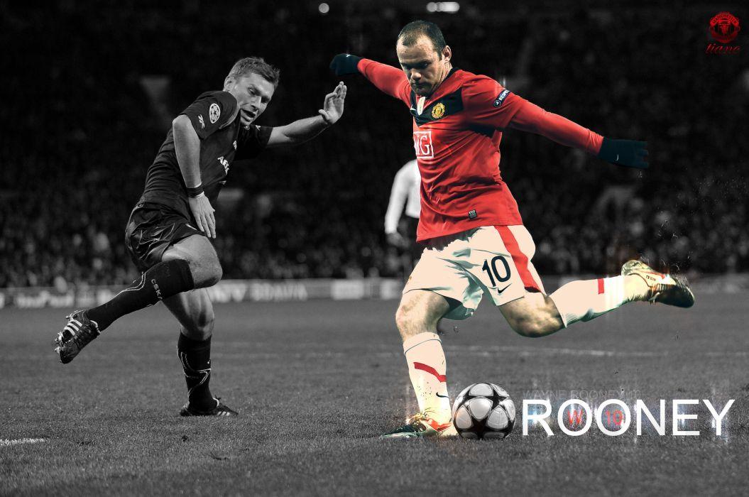 Wayne Rooney shot wallpaper