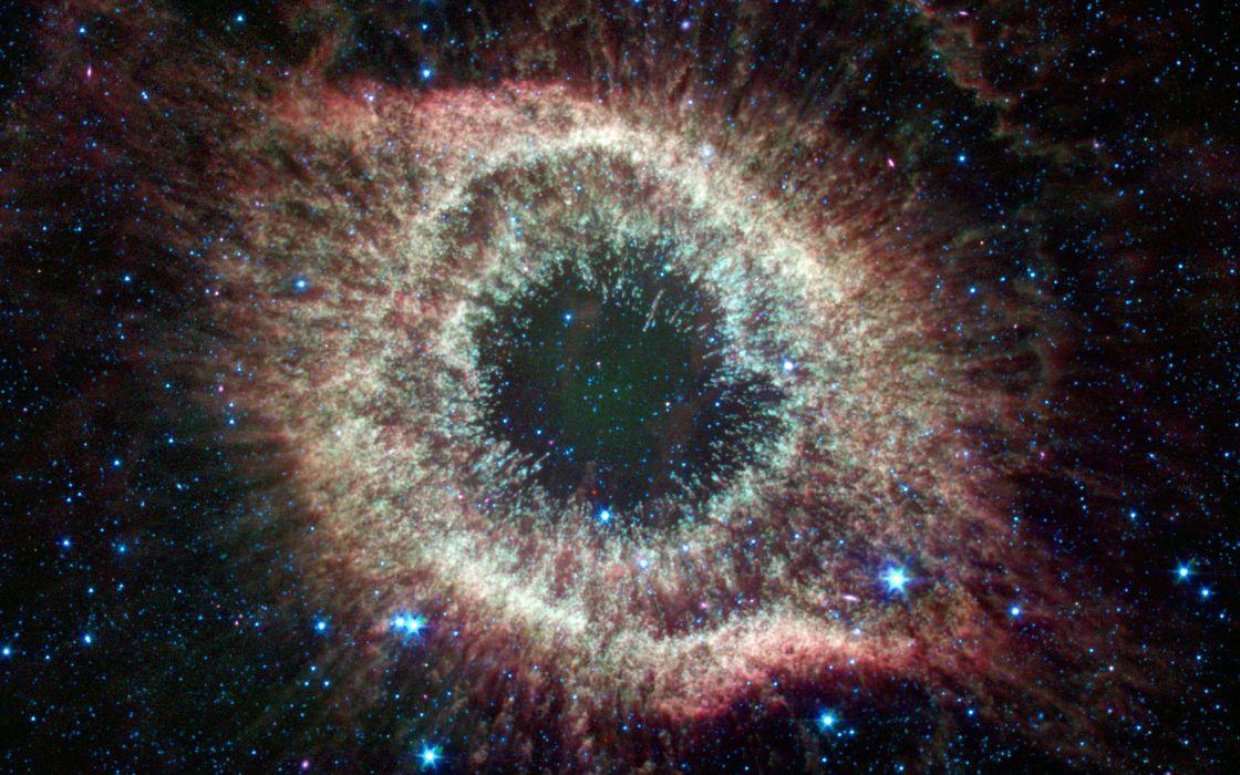 Helix nebula in infrared wallpaper