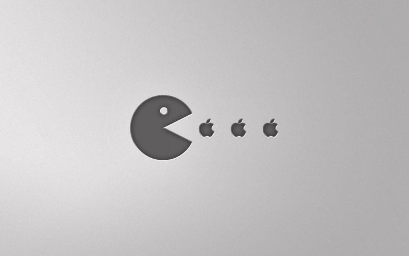 Pacman eats apples wallpaper