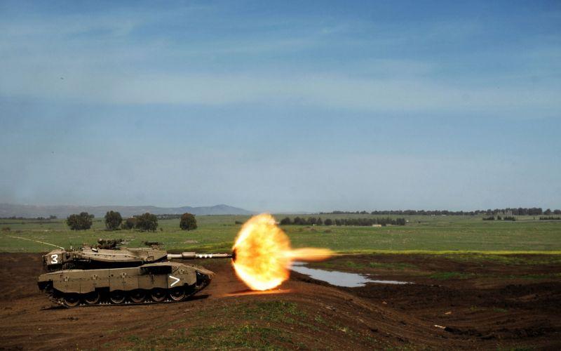 Tank firing wallpaper