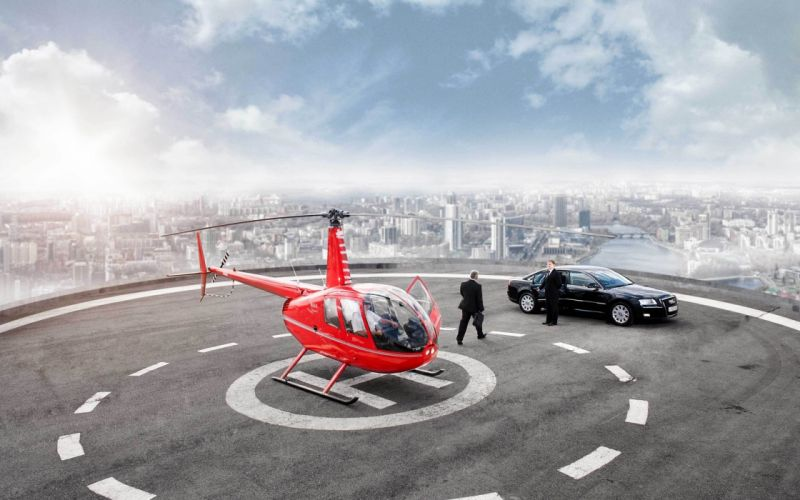 Helicopter at the top of the world wallpaper