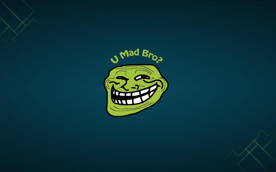 Green troll face wallpaper