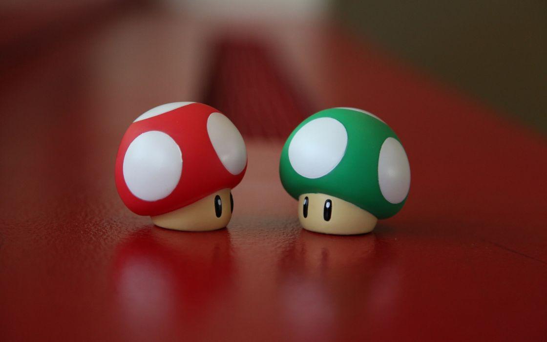 Super Mario's mushrooms wallpaper