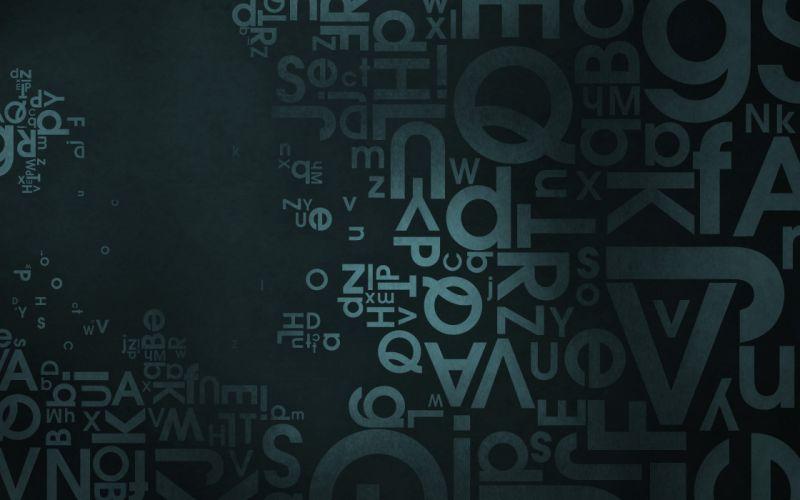 Typography avant garde wallpaper