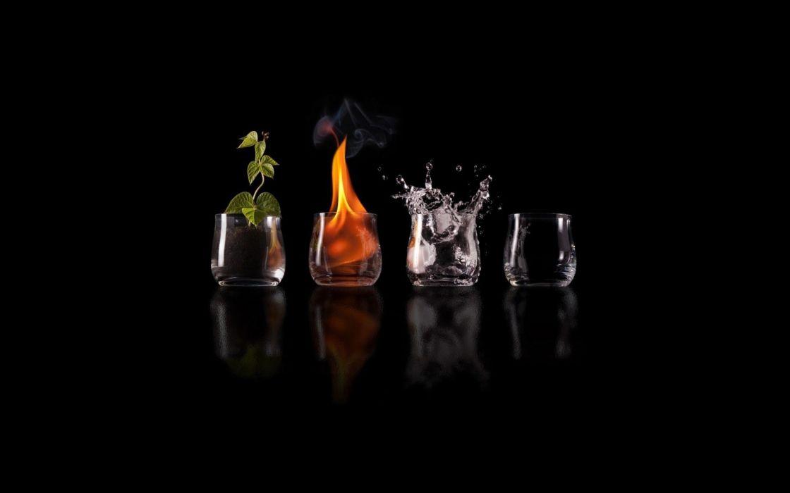 Four elements wallpaper