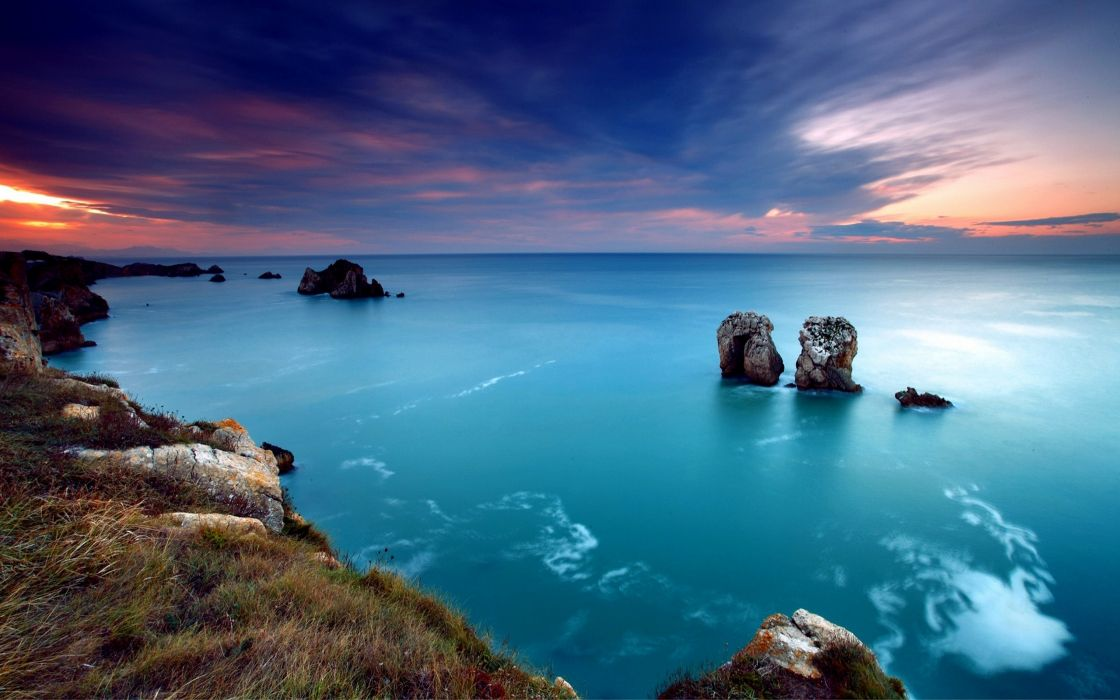 Stones and sea wallpaper