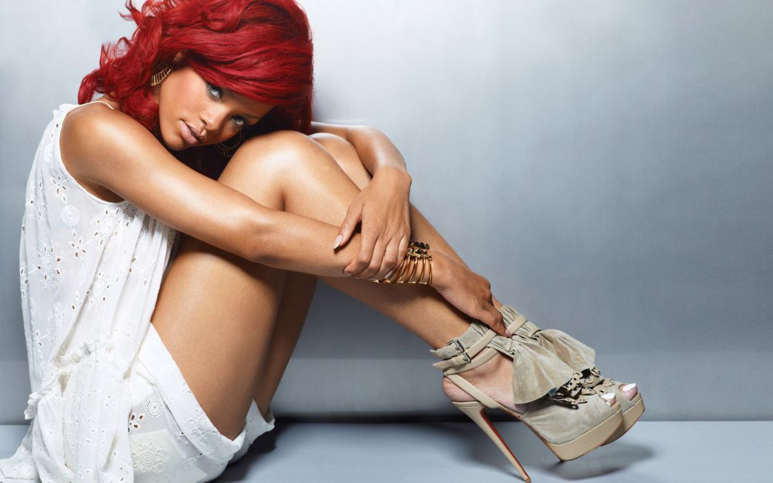 Rihanna with red hair wallpaper