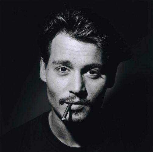 Johnny Depp with cigarette wallpaper