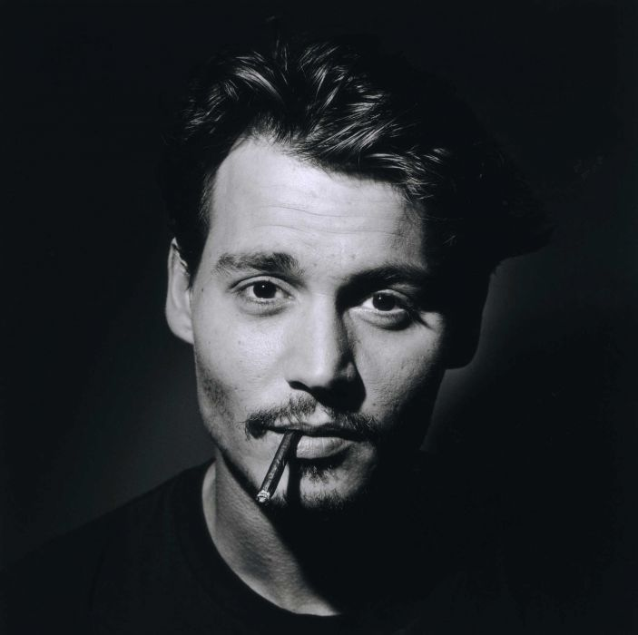 Johnny Depp With Cigarette Wallpaper
