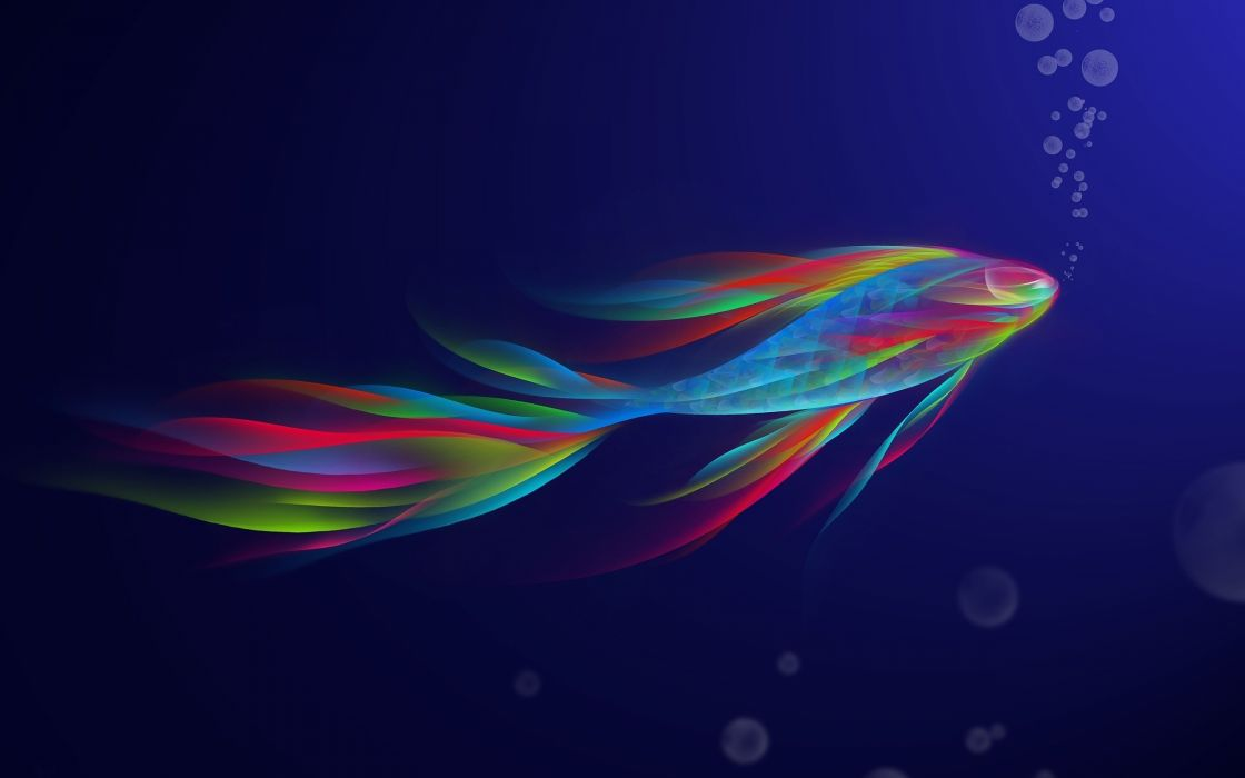 Rainbow fish wallpaper