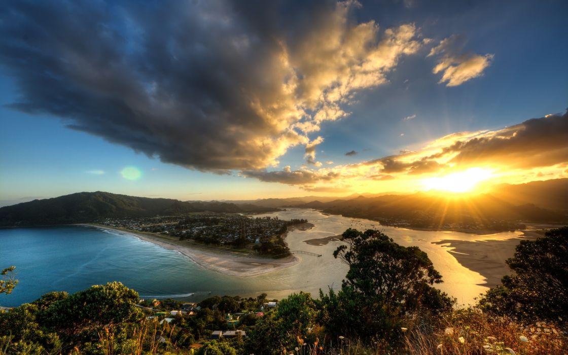 Beautiful sunset taken on Mount Paku wallpaper