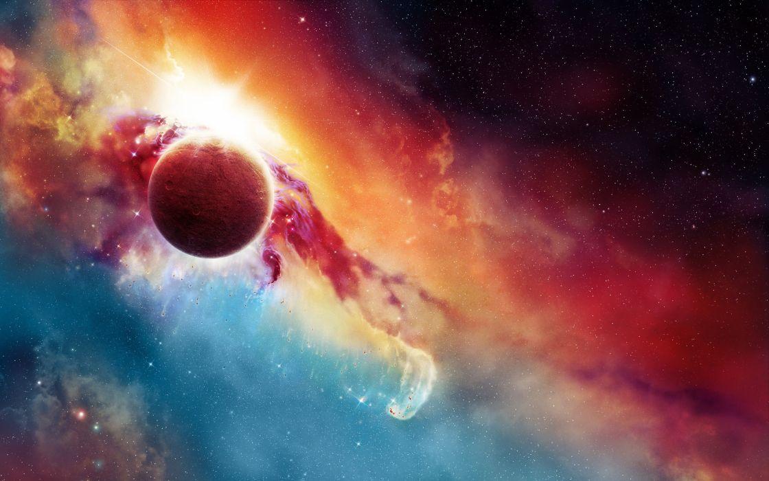 Bright planet wallpaper