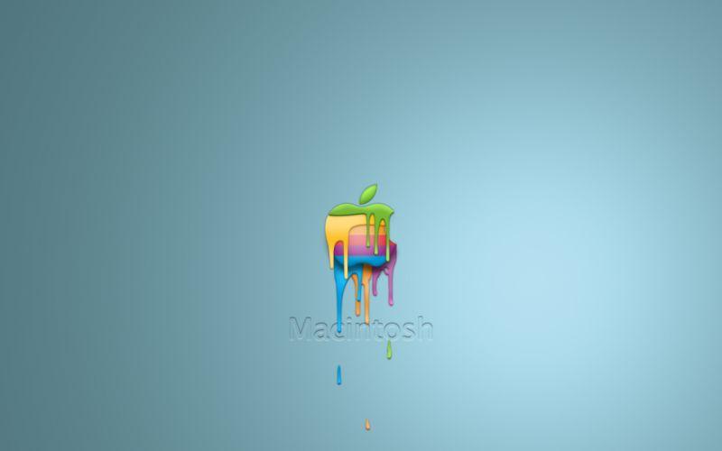 Dripping Apple wallpaper