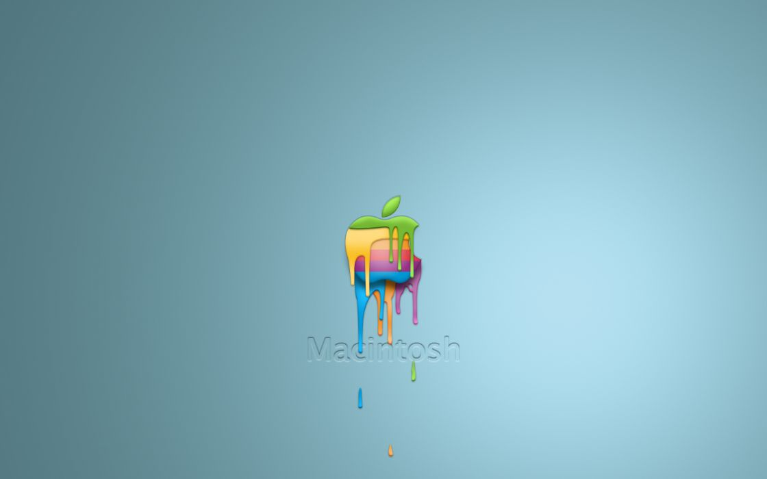 Dripping Apple wallpaper