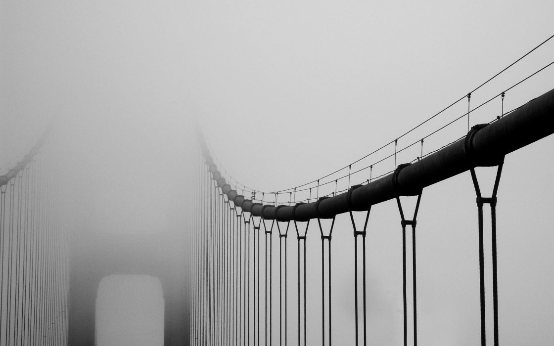 Vanishing bridge wallpaper