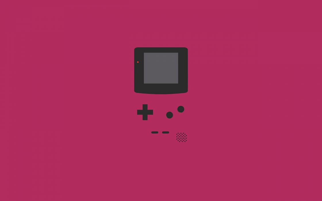 Minimalistic vector gameboy wallpaper