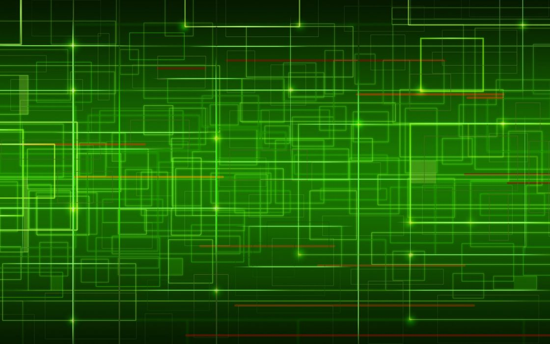 Network in green wallpaper