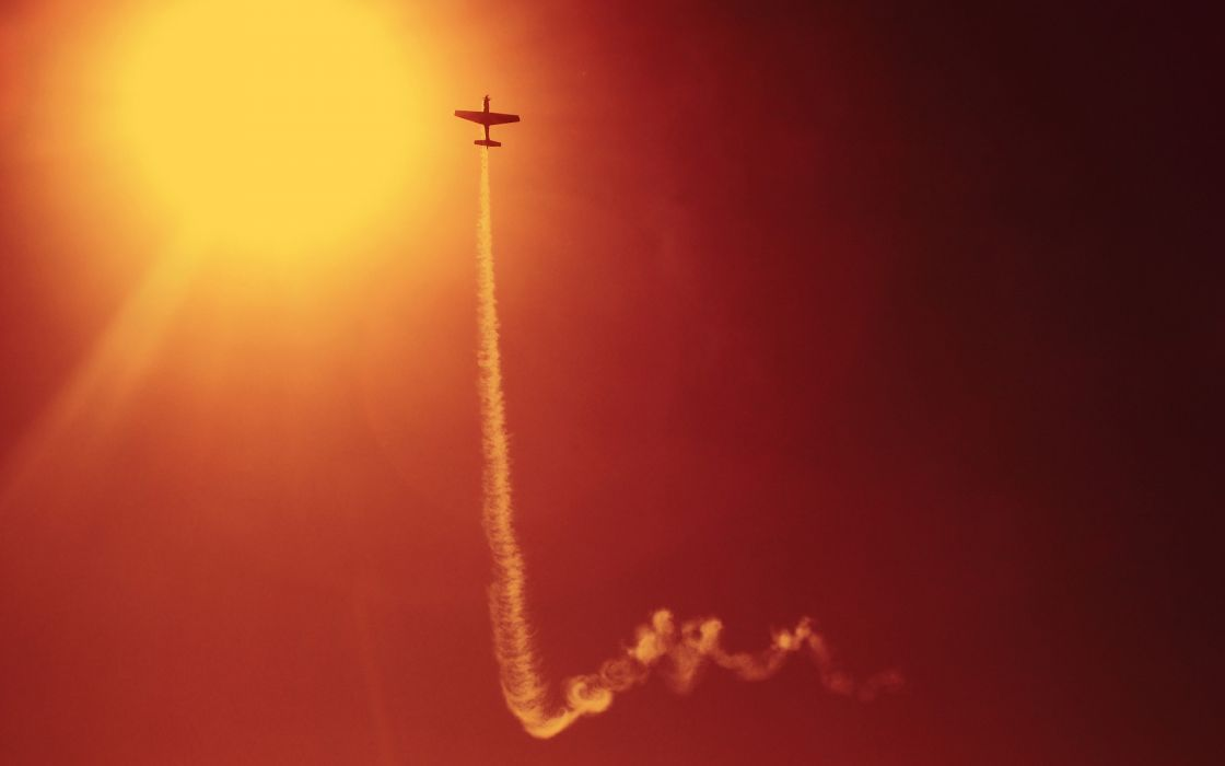 Stunt plane wallpaper