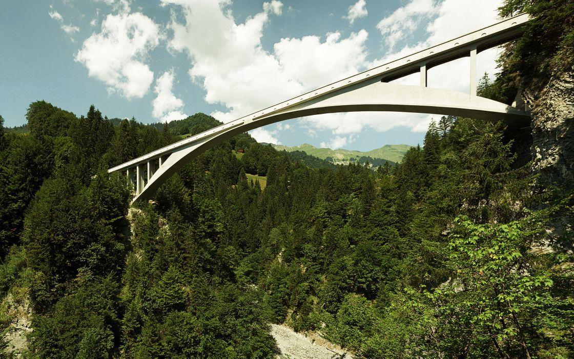 Salginatobel Bridge wallpaper