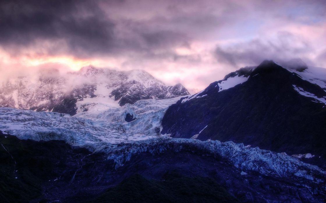 Glacier sunrise wallpaper