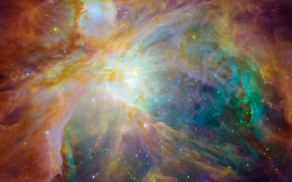 Chaos in the Orion nebula wallpaper
