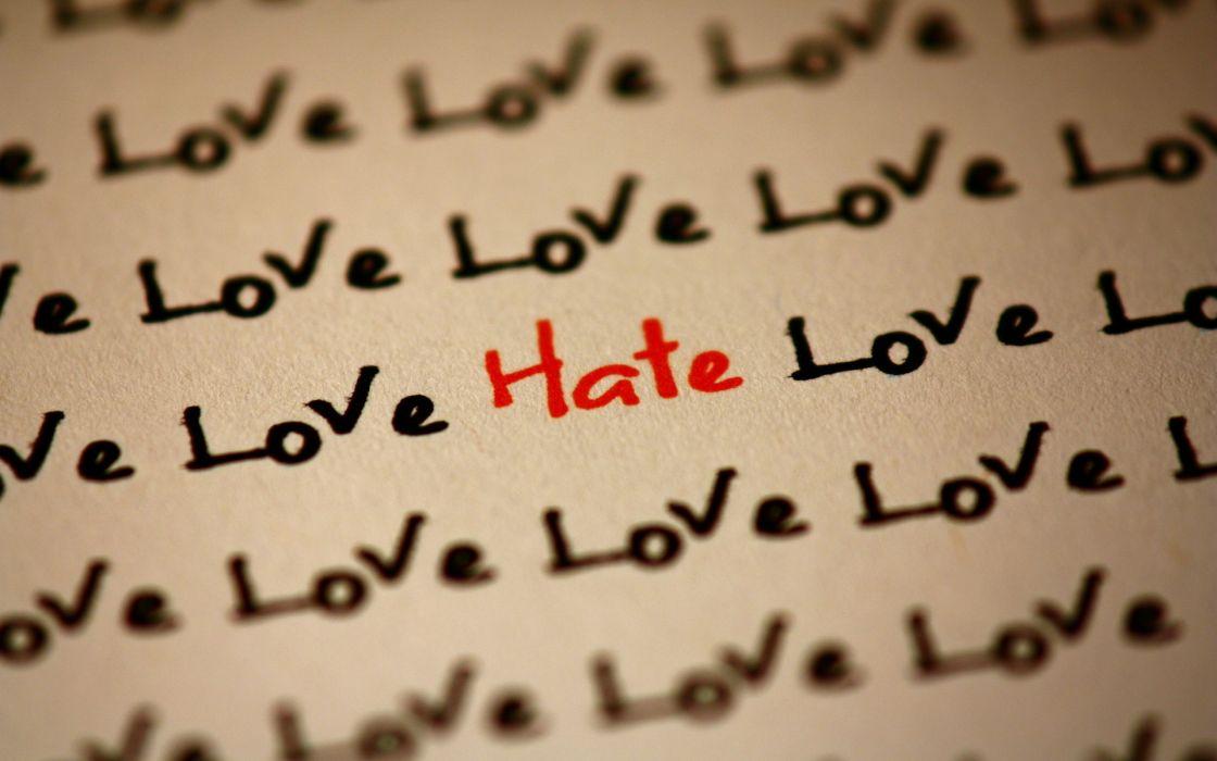 Love hate relationship wallpaper